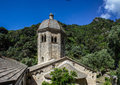 San fruttuoso ligurian coast the abbey of st fruitful isolated on the in italy reachable only by boat Stock Photography