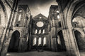 San galgano abbey hdr a view of the interior of in tuscany Royalty Free Stock Photos