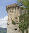 San gimignano city wall detail of in the tuscany region italy Stock Photo