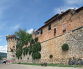 San gimignano city wall of in the tuscany region italy Royalty Free Stock Photos