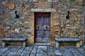 San gimignano detail is a small walled medieval hill town in the province of siena tuscany north central italy known as the town Royalty Free Stock Photo