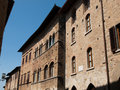 San gimignano italy streets of in Stock Photography