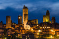 San gimignano medieval city tuscany is a small walled hill town in the province of siena north central italy known for the Stock Image