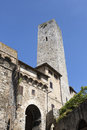 San gimignano is a small walled medieval hill town in siena tuscany italy Royalty Free Stock Image