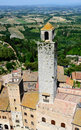 San Gimignano, town of beautiful towers, Tuscany Stock Images