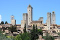 San gimignano in tuscany medieval town of italy Royalty Free Stock Photos