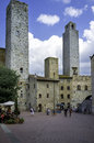 San gimignano tuscany towers view color image stock image italy august of the old city centre of an italian town in the province Stock Image