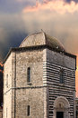 San giovanni baptistery volterra detail of in tuscany italy Royalty Free Stock Photography