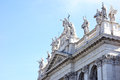San giovanni basilica rome italy in laterano side view with copy space Royalty Free Stock Photography