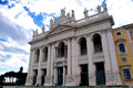 San giovanni laterano basilica roma perspective view Stock Photo