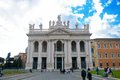 San giovanni laterano basilica roma prospective view Royalty Free Stock Photo