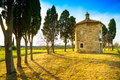 San guido oratorio church and cypress trees maremma tuscany i small famous location of carducci poem italy europe Stock Photos