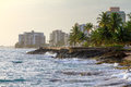 San Juan beach hotels Royalty Free Stock Photo