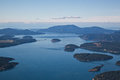 San juan islands aerial view clear blue sky day over the in washington state Stock Photography