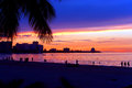 San juan puerto rico sunset a beautiful in the isla verde section of Stock Photo