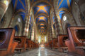 San Lorenzo cathedral interior. Stock Photo