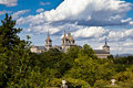 San Lorenzo de El Escorial Monastery Spires, Spain Royalty Free Stock Images