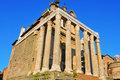 San lorenzo in miranda church in rome italy the temple of antoninus and faustina the roman forum converted to a catholic Royalty Free Stock Photography