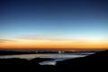 San Luis Reservoir Sunrise Royalty Free Stock Photo