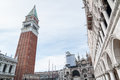 San Marco Campanile, Basilica and Doges Palace. Venice, Italy Royalty Free Stock Photo