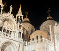 San marco cathedral detail of venice italy Stock Photo