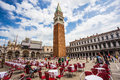 San marco piazza in venice june on june is the most expensive part of the city visiting millions a year Royalty Free Stock Image