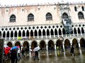 San Marco Place in Venice, Italy, in a rainy day Royalty Free Stock Photo