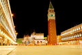 San marco square in the evening venice italy Stock Image