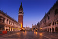 San marco square after sunset venice italy Stock Image