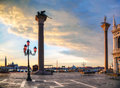 San marco square in venice italy early the morning Royalty Free Stock Photo