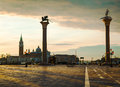 San marco square in venice italy early the morning Stock Images