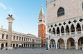 San Marco square in Venice, Italy early Royalty Free Stock Photo
