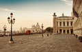 San Marco square in Venice, Italy early in the Royalty Free Stock Photo