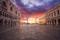 San Marco square in Venice. Italy. Royalty Free Stock Photo