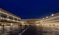 San marco venice in night scene Royalty Free Stock Photos