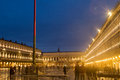 San marco venice night in scene Stock Image