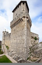 San Marino first tower: la Rocca or Guaita Royalty Free Stock Photo