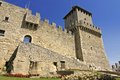 San marino rocca guaita castle della in the old town of Royalty Free Stock Images
