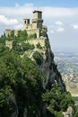 San marino rocca guaita castle della in the old town of Royalty Free Stock Photography