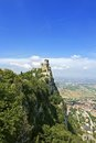 San marino rocca guaita castle della in the old town of Stock Image