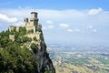 San marino rocca guaita castle della in the old town of Royalty Free Stock Image