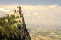 San marino rocca guaita castle della in the old town of Royalty Free Stock Photos