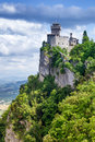 San marino second tower rocca della guaita ancient fortress of italy Royalty Free Stock Photography