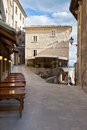 San marino town narrow streets vertical shot Royalty Free Stock Photos