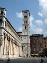 San Michele in Foro church - Lucca , Royalty Free Stock Images