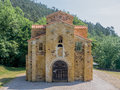 San miguel church of de lillo in asturias spain Stock Photo
