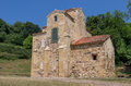 San miguel church of de lillo in asturias spain Royalty Free Stock Image