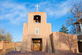 San Miguel Mission at sunset, Santa Fe, New Mexico Royalty Free Stock Photo