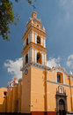 San Pedro de Cholula Orange Church Mexico Stock Image