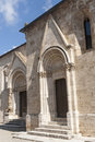 San Quirico d'Orcia (Tuscany), church Royalty Free Stock Image